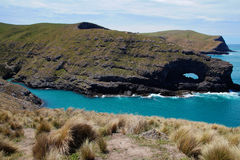 Banks Peninsula in the Canterbury, New Zealand stock images