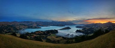 Banks Peninsula Christchurch New Zealand. Taken in 2015 taken in HDR Stock Image