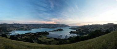 Banks Peninsula Christchurch New Zealand. Taken in 2015 taken in HDR Royalty Free Stock Photos