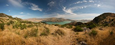 Banks Peninsula Christchurch New Zealand. Taken in 2015 taken in HDR Stock Photos