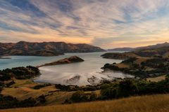 Banks Peninsula Christchurch New Zealand. Taken in 2015 taken in HDR Royalty Free Stock Photo