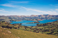 Banks Peninsula in New Zealand Royalty Free Stock Photos