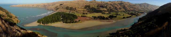 Banks peninsula, New Zealand Royalty Free Stock Photos