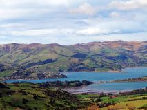 Banks Peninsula, New Zealand stock images