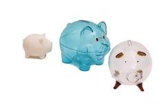 banks piggy tre royaltyfri foto