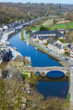 Banks of Rance River (Dinan town, France). Royalty Free Stock Images