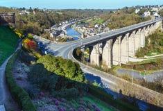 Banks of Rance River (Dinan town, France). Stock Image