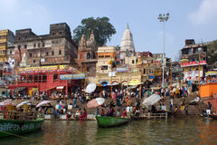 Banks of River Ganga Royalty Free Stock Photo