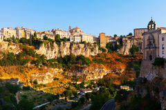 Banks of the river Jucar in Cuenca Royalty Free Stock Image
