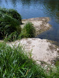 The Banks of the River Lot  - FRANCE Royalty Free Stock Photo