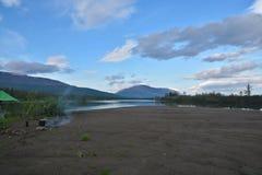 The banks of the river Muksun on the Putorana plateau. Royalty Free Stock Photo