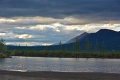 The banks of the river Muksun on the Putorana plateau. Stock Image