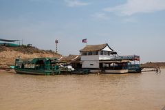 On banks of river near Tonle Sap Lake. Cambodia Stock Photo