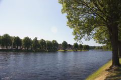 River Ness. On the banks of the River Ness in Inverness in the Scottish Highlands Royalty Free Stock Images