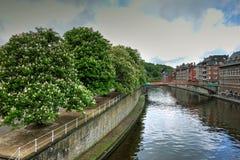 Banks of Sambre River, Namur, Belgium Stock Photo
