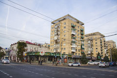 Banks and Small shops at Krasnaya street Royalty Free Stock Images
