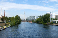 On the banks of the Spree. Berlin. Stock Images