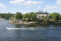 On the banks of the Stockholm fjord Royalty Free Stock Photos