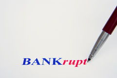 Banks survive only with government bail-out. Stock Image