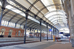 The banks of the train station Den Haag HS Royalty Free Stock Image