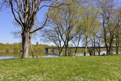 The banks of the Vienne river Stock Photography