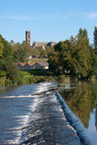 Banks of the Vienne river in Limoges Royalty Free Stock Photography