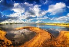 On the banks of the Vistula River. Stock Photo