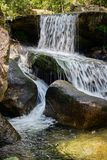Waterfall Vizela river Pontido royalty free stock image