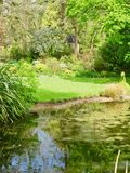 Banks of the water. Dewstow Gardens Caerwent Caldicot Wales united kingdom stock photo