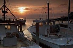 banks ytterkant solnedgång royaltyfri foto