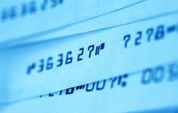 Bankscheck Stockfoto