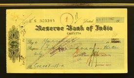 Bankscheck Lizenzfreies Stockfoto