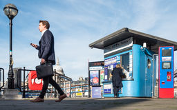 Bankside River Bus ticket office, London Royalty Free Stock Photos