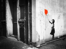 Banksy: balloon girl. Vestry Street Stock Images