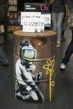Banksy bij HMV Stock Afbeeldingen
