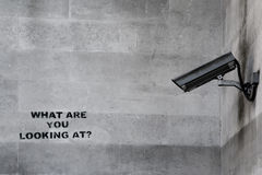 Banksy CCTV Graffiti Royalty Free Stock Images