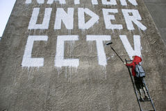 banksy chłopcy cctv szczegół zdjęcia stock