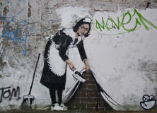 Banksy, Chalk Farm Rd., London Stock Photo