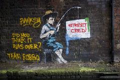 Banksy contre Robbo photo libre de droits