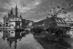 Banksy Dismaland B&W Royalty Free Stock Photo