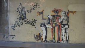 Banksy fand in London-Straßen lizenzfreie stockfotografie