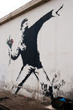 Banksy Graffiti Stockfotos