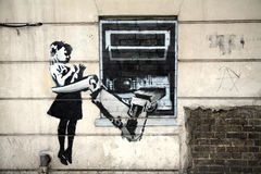 Banksy Graffiti Royalty Free Stock Photography