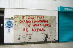 Banksy Graffiti, London Royalty Free Stock Image
