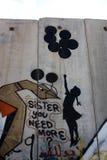 banksy graffiti Palestine ściana Zdjęcia Stock
