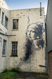 Banksy-Grafik Lizenzfreies Stockbild