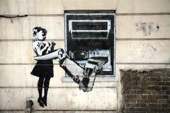 banksy grafitti Royaltyfri Fotografi