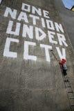 banksy grafitti Arkivfoto