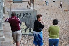 banksy leonards malowidła ściennego st Zdjęcia Stock