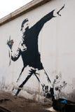 Banksy nel Palestine Fotografie Stock